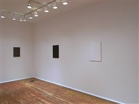 installation view of second room - from right: <u>first</u>, <u>feature</u>, and <u>surface</u> by tom benson