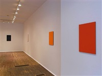 installation view of front room - from right: <u>scarlet</u>, <u>counter</u>, <u>apt</u>, and <u>script<font color=ffffff>s</font></u> by tom benson