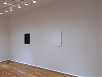 installation view of second room - from right: <u>first</u> and <u>feature</u> by tom benson