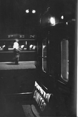 broadway limited, penn station by louis stettner