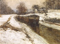 waiting for spring by edward willis redfield