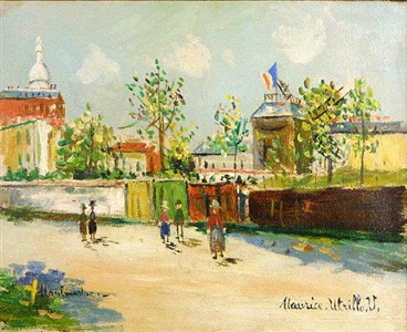 french post-impressionist works by maurice utrillo