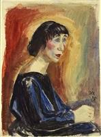 portrait (portrait frau m.) by otto dix