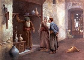arab traders, cairo by charles robertson