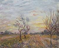 verger aux environs de moret-sur-loing by alfred sisley