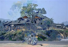 the individualist: motor, tree, house by berend strik