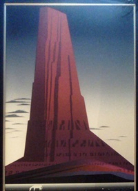 desert skyscraper by eyvind earle