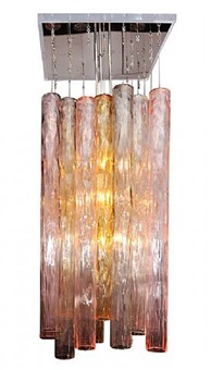 chandelier, circa 1960's by barovier & toso (co.)