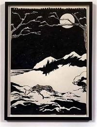 noel noir (reindeer) by donald urquhart