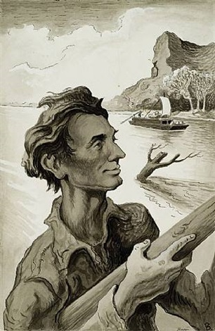 young abe lincoln (frontispiece) by thomas hart benton