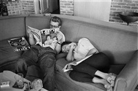james dean and elizabeth taylor take a break from filming