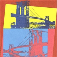 brooklyn bridge (290) by andy warhol