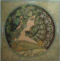 ivy by alphonse mucha