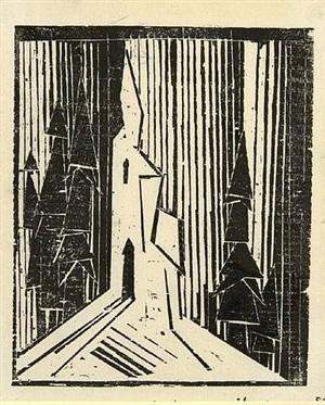 waldkirche by lyonel feininger