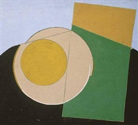 composition with yellow circle by edouard steinberg