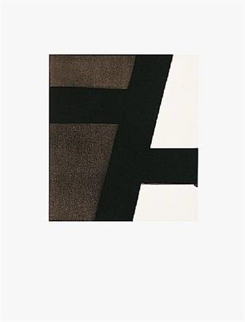 """serigraphie, aus portfolio """"kinderstern"""" by pierre soulages"""
