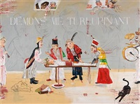 thinking of ensor and my cat diego by enrique chagoya