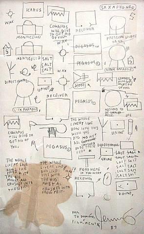 untitled (menu) by jean-michel basquiat