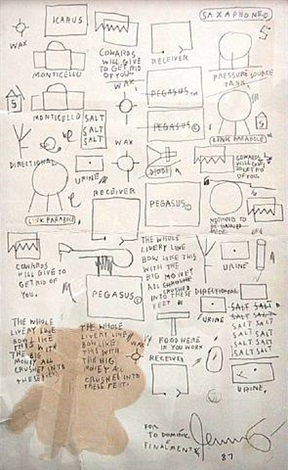 untitled (menu) by jean-michel basquiat