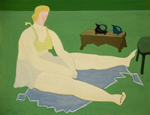substantial woman by milton avery
