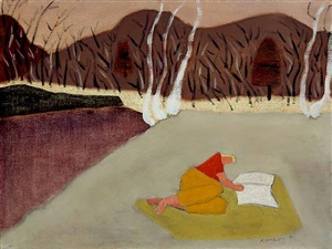 reader in the quarry by milton avery