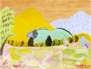 meadows & mountains by milton avery