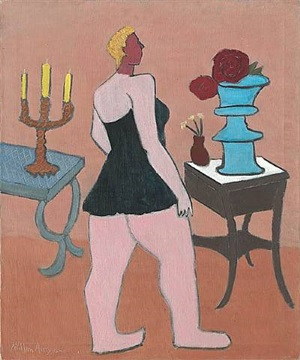 black chemise by milton avery