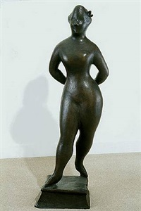 standing female with arms behind back by elie nadelman