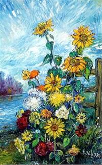 sunflowers by david davidovich burliuk