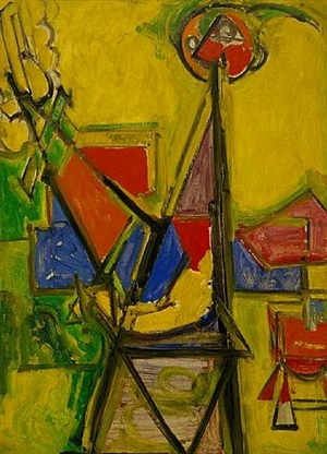 yellow self portrait by hans hofmann