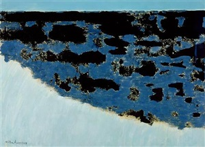 sea grasses & blue sea by milton avery