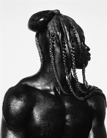 djimon with octopus, hollywood by herb ritts