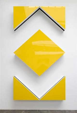 photo-souvenir : cut-out: situated work in five parts, traffic yellow by daniel buren