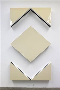 photo-souvenir : cut-out: situated work in five parts, light ivory by daniel buren