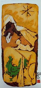 the mother teresa series by m.f.husain the five rays of raza by s.h.raza by maqbool fida husain