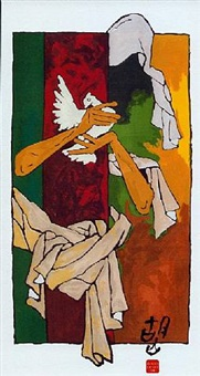 mother viii by maqbool fida husain
