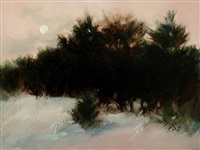winter moon: the pine row by andrea scheidler