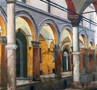 arcades, bologna by arturo di stefano