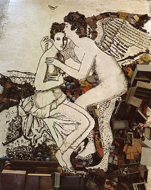 amore and psyche, after françois gerard (pictures of junk) by vik muniz
