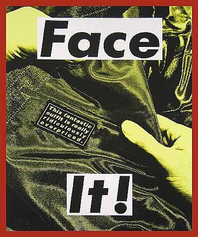 face it by barbara kruger