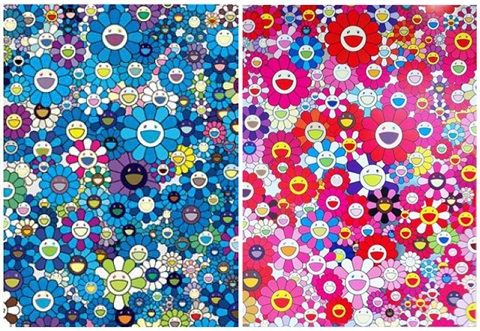 an homage to ikb 1957 an homage to monopink 1960 2 works by takashi murakami