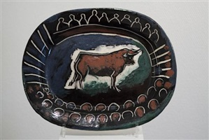taureau dans l'arène by pablo picasso