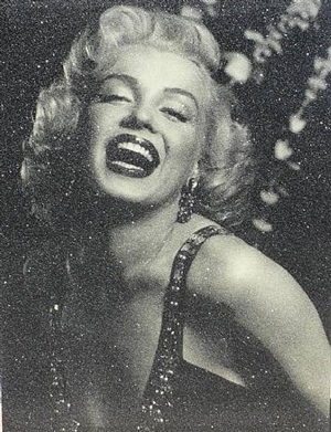 marilyn monroe laughing (black & silver) by russell young