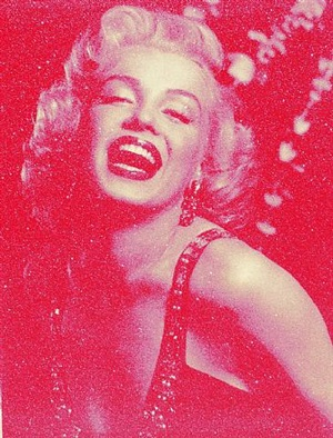 marilyn monroe laughing (pink) by russell young