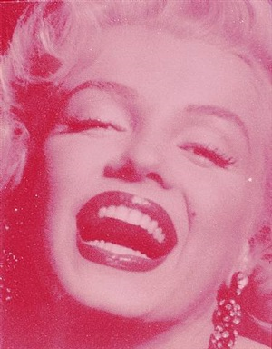 marilyn monroe laughing (close-up) by russell young