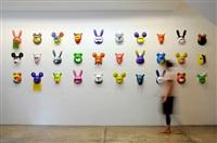 domestics 100% (mur de masques) by f.c. sofia