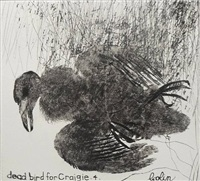 dead bird for craigie 4 (pigeon fledgling) by colin self
