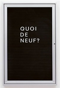 quoi de neuf? by bethan huws