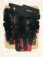 lithographie no. 8 by pierre soulages