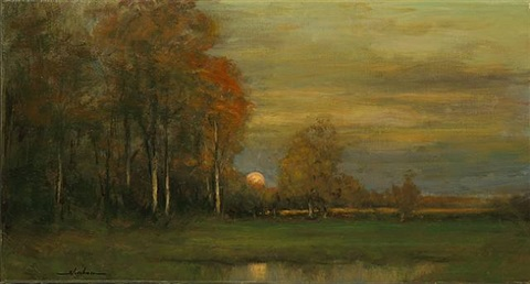 edge of an autumn wood by dennis sheehan (sold)